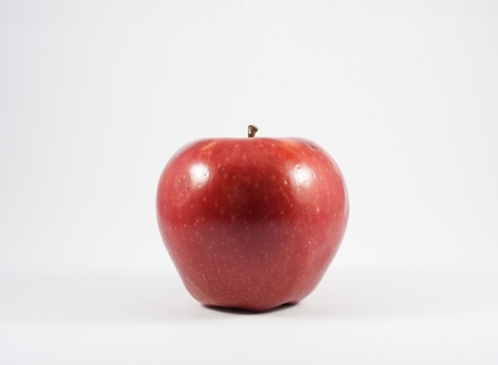 A red apple isolated on white background Stock Photo