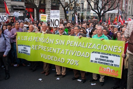 demonstrators during the general strike on March 29, 2012