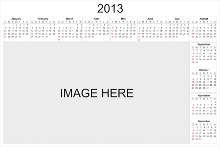 2013 calendar designed by computer using design software, with white background Stock Photo - 15467428