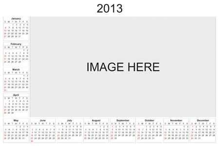 2013 calendar designed by computer using design software, with white background Stock Photo - 15467427