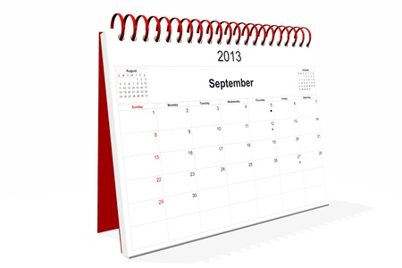 3d computer graphics in a 2013 calendar designed by computer using design software, isolated on white background Stock Photo - 15467395