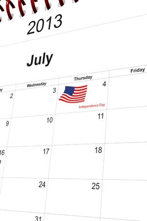 3d computer graphics in a 2013 calendar designed by computer using design software, isolated on white background Stock Photo - 15586679