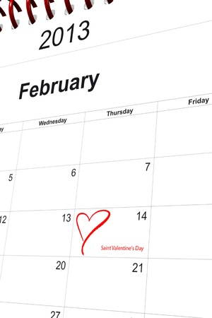 3d computer graphics in a 2013 calendar designed by computer using design software, isolated on white background Stock Photo - 15586678