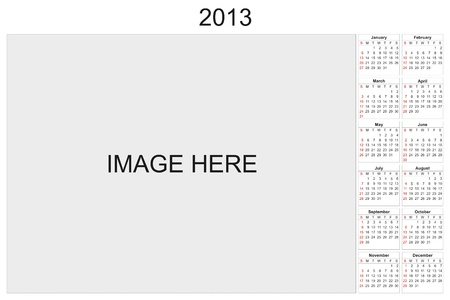 2013 calendar designed by computer using design software, with white background Stock Photo - 15606094