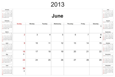 2013 calendar designed by computer using design software, with white background Stock Photo - 15638387