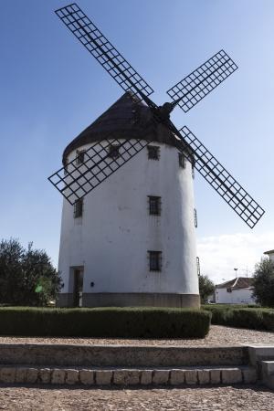 famous traditional windmill Castilla La Mancha, in Spain