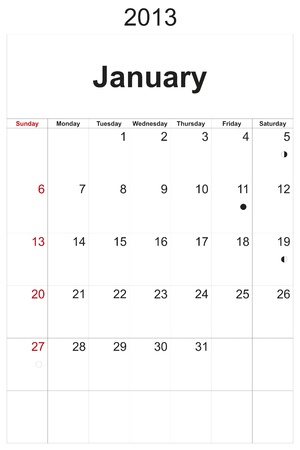 2013 calendar designed by computer using design software, with white background Stock Photo - 17222361