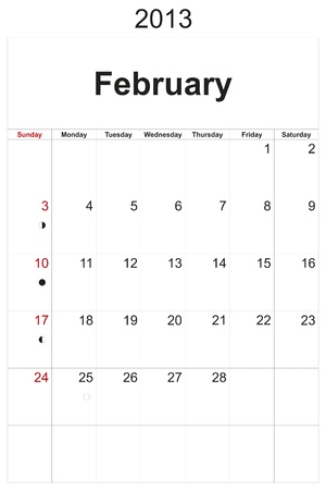 2013 calendar designed by computer using design software, with white background Stock Photo - 17222355