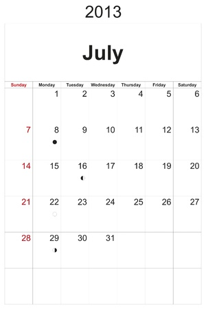 2013 calendar designed by computer using design software, with white background Stock Photo - 17222353