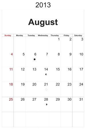 2013 calendar designed by computer using design software, with white background Stock Photo - 17222360