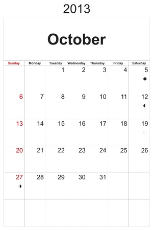 2013 calendar designed by computer using design software, with white background Stock Photo - 17222362