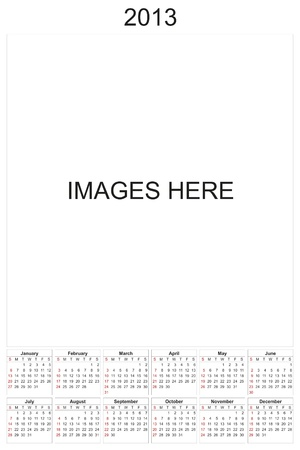 2013 calendar designed by computer using design software, with white background Stock Photo - 17222371
