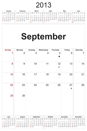 2013 calendar designed by computer using design software, with white background Stock Photo - 17222389