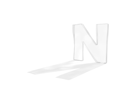 typography 3d render isolated on white background Stock Photo