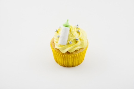 cupcake isolated on white background photo