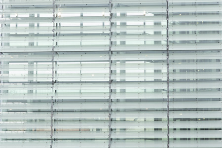 reflect: glass wall of office building with reflect Stock Photo