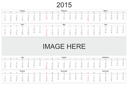 february 14th: 2015 calendar designed by computer using design software, with white background