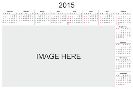 2015 calendar designed by computer using design software, with white background photo