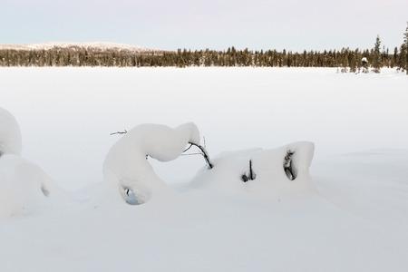 kiruna: Winter landscape in Kiruna Lapland Sweden