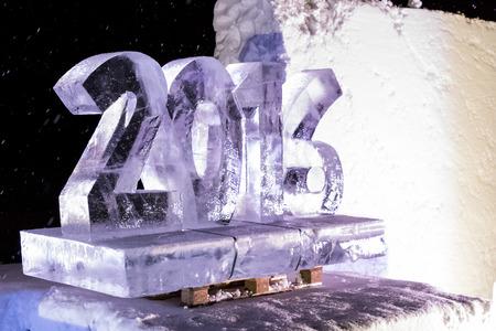 kiruna: ice sculptures in icehotel in  Kiruna. Jukkasjarvi. Sweden. Lapland Editorial