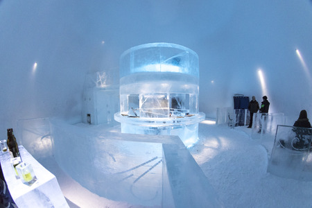 kiruna: Icebar in Icehotel in Kiruna. Sweden. Lapland