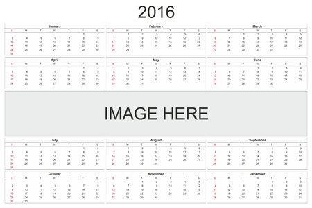 february 14th: 2016 calendar designed by computer using design software, with white background Stock Photo