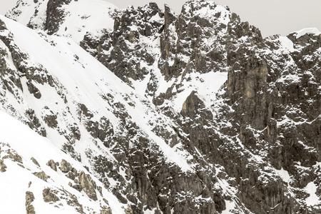 Snowy mountains in the Swiss Alps near Innsbruck