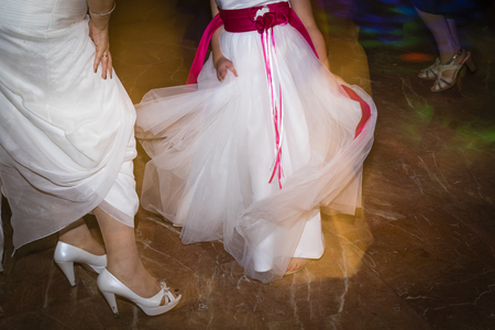 wedding shoes Bride Stock Photo