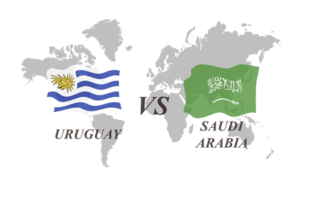 A Football Tournament Russia 2018. Group A. Uruguay vs Saudi Arabia