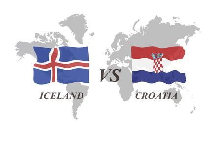 A Football Tournament Russia 2018. Group D. Iceland vs Croatia Archivio Fotografico