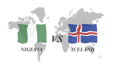 A Football Tournament Russia 2018. Group D. Nigeria vs Iceland