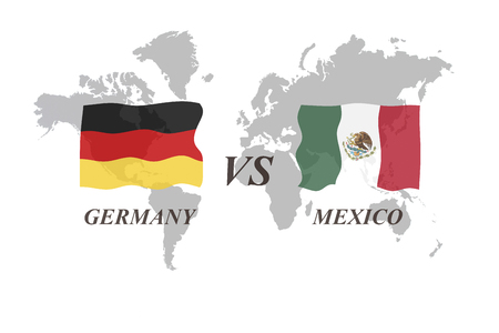 A Football Tournament Russia 2018. Group F. Germany vs Mexico