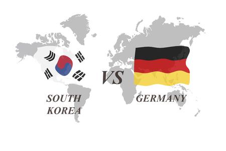 A Football Tournament Russia 2018. Group F. South Korea vs Germany Banco de Imagens