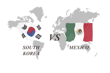A Football Tournament Russia 2018. Group F. South Korea vs Mexico