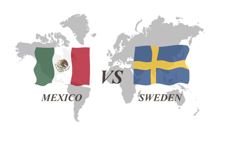 A Football Tournament Russia 2018. Group F. Mexico vs Sweden