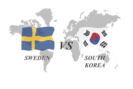 A Football Tournament Russia 2018. Group F. Sweden vs South Korea