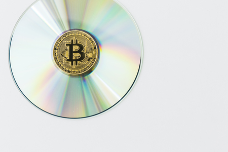 A Bitcoin Cryptocurrency Digital Bit Coin BTC Currency Technology Business Internet Concept. 免版税图像