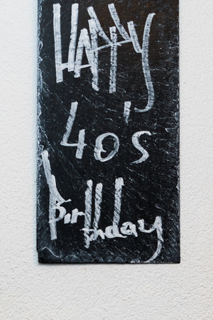 A Conceptual hand writing showing Celebrating 40 Years