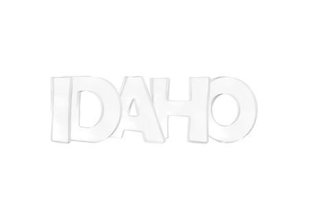 Idaho. Isolated USA state names with white background