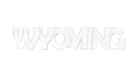 Wyoming. Isolated USA state names with white background