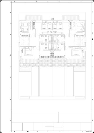 A Part plan of architectural project on the white background Standard-Bild - 125618377