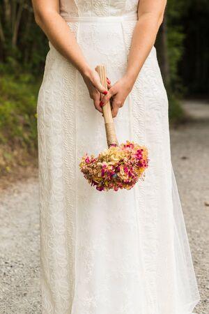 wedding dress on wedding day