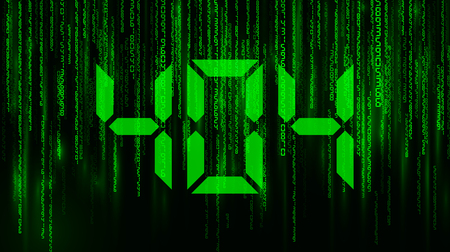 matrix. falling numbers. warning: error 404, page not found. vector illustration