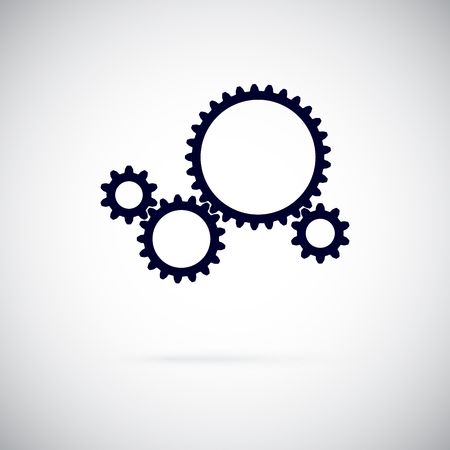 Gears on a white background. Working gear. Vector illustration