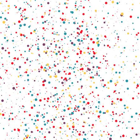 Seamless pattern colorful dots. Confetti. Vector illustration 矢量图像