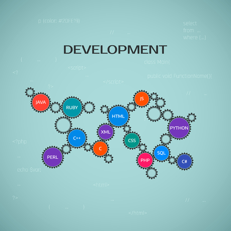 Programming development concept. vector illustration