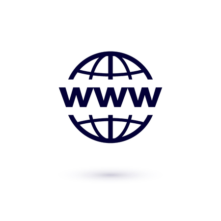 WWW flat icon. Vector concept illustration for design. World Wide Web icon