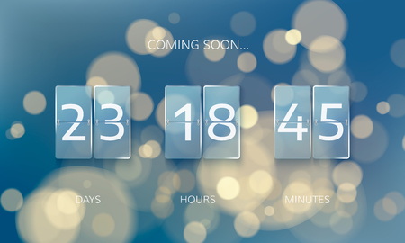 Announce countdown panel design. Count days, hours and minutes. Web banner countdown to New Year. 일러스트