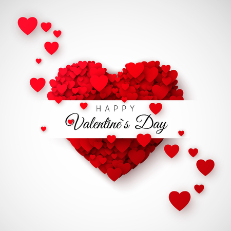 Red Heart Symbol Of Love Hearts Confetti Saint Valentines