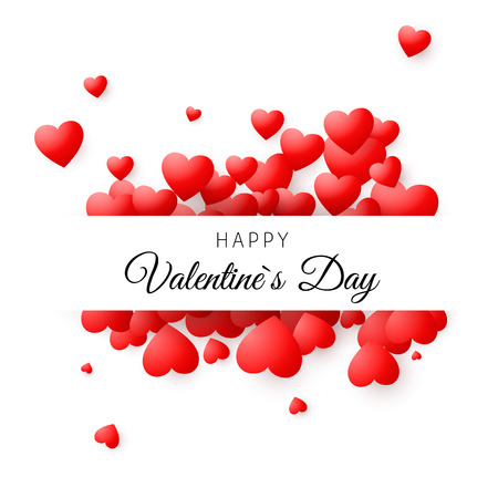 Colorful card - Happy Valentines day. Romantic greeting card concept. Valentines day vector background